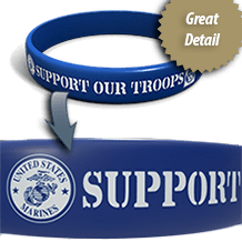 Printed Silicone Wristbands and Bracelets