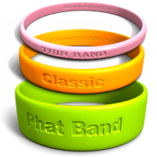 80 Custom Wristbands IN MEMORY bands or other design