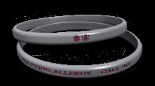 Thin Bee Allergy Bracelet