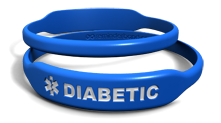 Blue Diabetes Medical Alert Bracelet