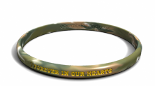 Forever In Our Hearts Yellow Ribbon Wristband