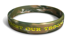 Support Our Troops Camo Wristband