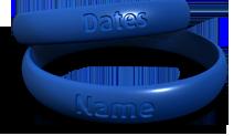 Custom Contour Memorial Bracelet