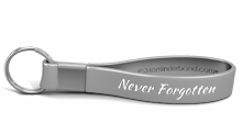 Never Forgotten Memorial Keychain