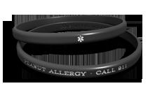 Thin Peanut Allergy Medical Alert Bracelet