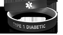 Dual-Layer Diabetic Medical Alert Wristband
