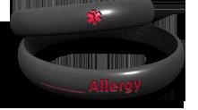 Custom Allergy Contour Band