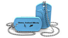 Allergy Medical Alert Dog Tag Necklace