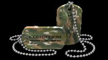 Custom Camo Medical Alert Dog Tag Necklace