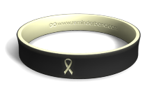 Glow-in-the-Dark Lung Cancer Ribbon Bracelet