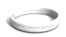 Lung Cancer Just Breathe Wristband