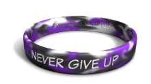 Never Give Up Marbleized Wristband
