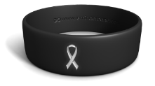 Lung Cancer White Ribbon Phat Wristband