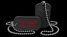 Diabetes Medical Alert Dog Tag Necklace