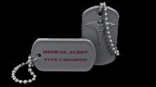 Diabetic Medical Alert Dog Tag Keychain
