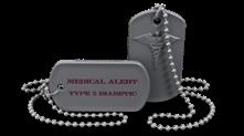 Diabetic Medical Alert Dog Tag Necklace