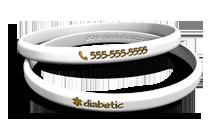 Thin Diabetic Medical Bracelet
