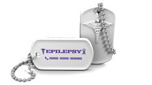 Epilepsy Medical Alert Dog Tag Keychain