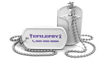Epilepsy Medical Alert Necklace