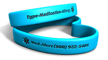Custom Medical Alert Heart Wristband