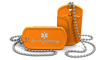 Arrhythmia Medical Alert Dog Tag Necklace