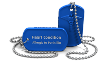 Heart Condition Medical Alert Dog Tag Necklace