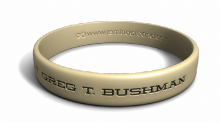 Custom Name Desert Sand Wristband