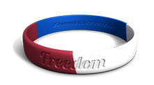 Freedom Red White and Blue Multicolor Wristband