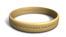 Support Our Troops Desert Sand Wristband