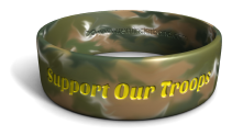 Support Our Troops Phat Color-Fill Wristband