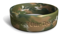 Support Our Troops Phat Camo Wristband