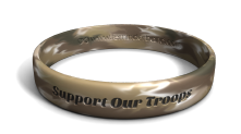Support Our Troops Color-Fill Wristband