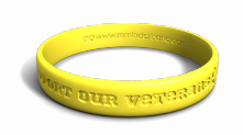 Support Our Veterans Yellow Wristband