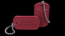 Custom Medical Alert Dog Tag Keychain