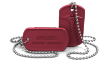 Custom Medical Alert Dog Tag Necklace
