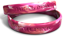 Real Men Wear Pink Wristband