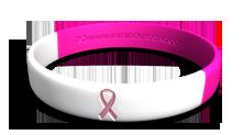 Pink/White Pink Ribbon Wristband