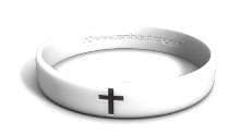 Black Cross Wristband