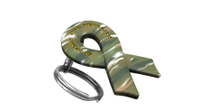 Support Our Veterans Camo Keychain
