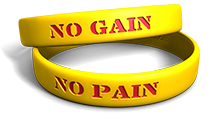 No Pain, No Gain Wristband