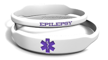 Epilepsy Med-Alert Rectangle Marquee Band