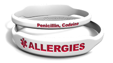 Allergies Rectangle Marquee Band