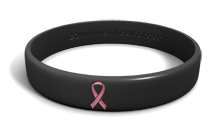 Pink Ribbon Black Cancer Bracelet
