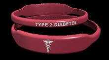 Caduceus Type 2 Diabetes Medical Bracelet