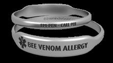 Bee Allergy Medical Alert Bracelet
