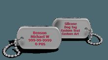 Custom Silicone Dog Tag Keychain