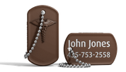 Brown Medical Alert Dog Tag Keychain.png