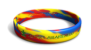 Autism Awareness Marbleized Band