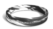 Fight Lung Cancer Marbleized Band