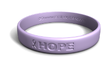 Debossed Hope Cancer Band